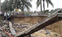 Huge subsided area after heavy rain in Da Nang
