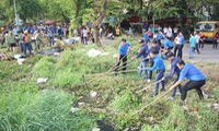 Young people clean up capital