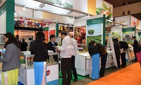 Vietnamese food advertised at foodex Japan 2018 trade