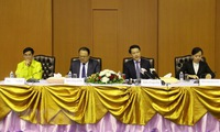 Laos holds press conference post dam collapse