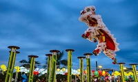 International lion, dragon, and unicorn dance festival in Danang