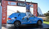 Dutchman ends 'World's longest electric car trip'