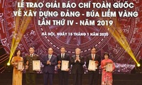 Winners of National Press Awards on Party building honoured