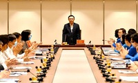Hanoi Party leader called for youth initiatives in the fight against COVID-19