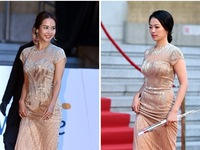 Sao nữ Hàn Quốc khoe sắc trên thảm đỏ giải Rồng Xanh 2014