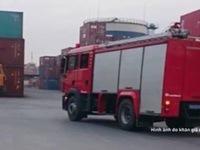 Cháy tàu chở phốt pho tại cảng Nam Hải, TP. Hải Phòng