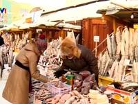 Chợ nông dân ở thành phố lạnh nhất thế giới