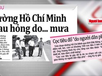 """""""Đường Hồ Chí Minh xuống cấp là do… mưa"""""""