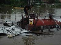 Nổ tàu chở xăng dầu, 1 người bị thương