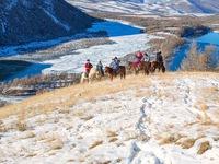 Ngắm mùa đông tuyết trắng tuyệt đẹp ở Mông Cổ