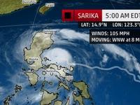 Bão Sarika đi vào vùng biển Philippines, 1 người thiệt mạng