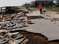 Bão Matthew gây lở đất ở Nam Carolina (Mỹ)