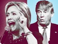 """Hilary Clinton và Donald Trump lần đầu """"so găng': Khó đoán kết quả"""