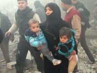 6 em nhỏ thiệt mạng do bom thùng ném xuống Aleppo (Syria)