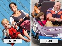 Sự khác biệt 'một trời, một vực' khi bố và mẹ chăm con
