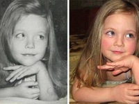 Những bức ảnh giống đến ngỡ ngàng giữa hai thế hệ