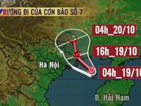 Bão số 7 cách Quảng Ninh - Hải Phòng 210km về phía Đông Nam