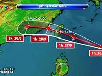 Vùng biển Đông Bắc Biển Đông bị ảnh hưởng hoàn lưu bão Megi