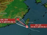 Siêu bão Meranti hướng về phía Biển Đông