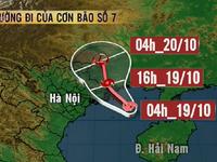 Chiều nay (19/10), bão số 7 đổ bộ Quảng Ninh