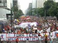 Brazil: Hàng nghìn người biểu tình phản đối Dự luật chi tiêu công