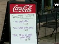 Độc đáo quán cà phê tính phí cao hơn đối với người không lịch sự