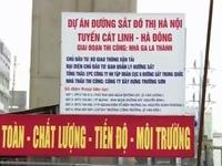 Dự án Đường sắt Cát Linh - Hà Đông thay thế 1 nhà thầu
