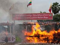Myanmar tiêu hủy số lượng lớn ma túy