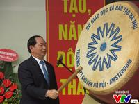 Chủ tịch nước Trần Đại Quang dự lễ khai giảng trường Amsterdam