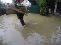 Xúc động người dân miền Trung giúp nhau trong mưa lũ