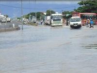 Mưa lũ ở Bình Thuận gây ngập úng cục bộ nhiều nơi