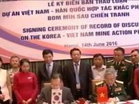 Việt Nam - Hàn Quốc hợp tác khắc phục hậu quả bom mìn