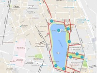 Bản đồ phố đi bộ, điểm trông giữ xe, điểm phát wifi quanh hồ Hoàn Kiếm