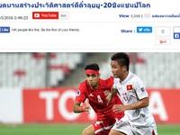 Báo chí Thái Lan chung vui với chiến tích lịch sử của U19 Việt Nam