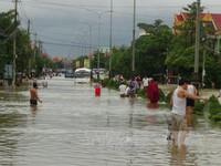 Quảng Bình mưa lớn, nước lũ lên nhanh