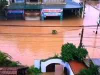 Quảng Bình: Mưa to, hàng trăm hộ dân ngập trong nước