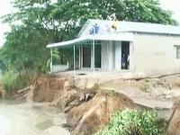 Đồng Tháp: Sạt lở nhấn chìm 1.000m2 đất