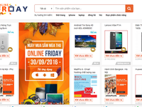 Hàng trăm nghìn sản phẩm khuyến mãi lớn được bán trong ngày Online Friday 30/9