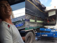 Tài xế xe tải cứu xe khách được dân mạng tôn vinh là anh hùng