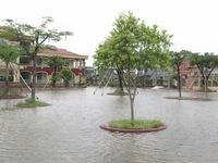 Mưa lớn gây ngập cục bộ nhiều tuyến đường tại Hà Tĩnh
