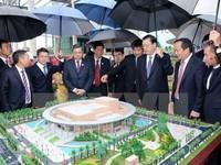 Ủy viên trưởng Nhân đại Trung Quốc thăm dự án Cung hữu nghị Việt - Trung