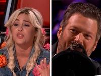 The Voice Mỹ: Miley Cyrus làm tắc kè hoa, Blake Shelton bắc loa trên ghế nóng