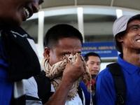 3 thuyền viên về đến Hà Nội an toàn sau 4 năm bị cướp biển giam giữ