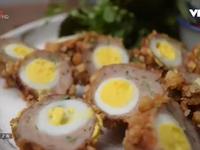 Cách làm món trứng cút chiên cốm xanh thơm giòn lạ miệng