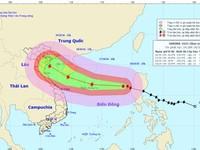Tâm bão số 7 trên khu vực phía Đông quần đảo Hoàng Sa