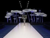 Hoa sen cao 5m - Điểm nhấn sân khấu Tuần lễ thời trang quốc tế Việt Nam 2016