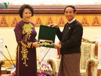 Quốc hội Việt Nam - Myanmar tiếp tục hợp tác và phối hợp hành động chặt chẽ