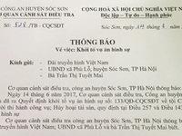 Khởi tố vụ án tấn công phóng viên VTV tại Sóc Sơn