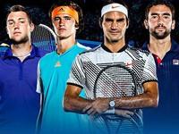 Kết quả bốc thăm ATP Finals 2017: Federer cạnh tranh cùng Zverev, Marin Cilic và Jack Sock
