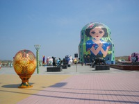 Công viên búp bê Matryoshka khổng lồ hút du khách